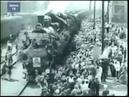 1945, Белорусский вокзал, Первый поезд Победы прибыл в Москву, 10 мая, кинохроника Победы 001