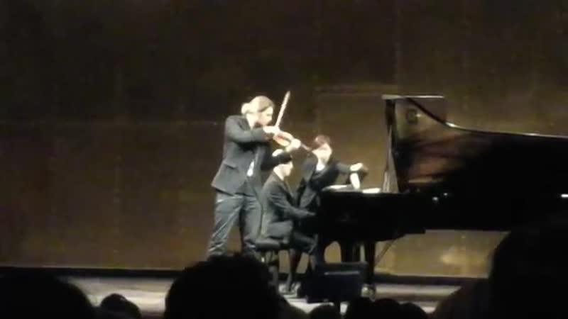 Devid Garrett Julien Quentin,Recital, Paris 28.05.2016.S.Frank,Sonata for violin