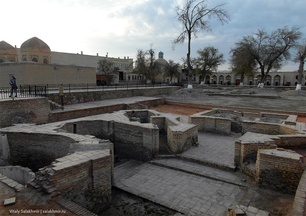 Караван-сараи и баня – раскопки в Бухаре, 2019