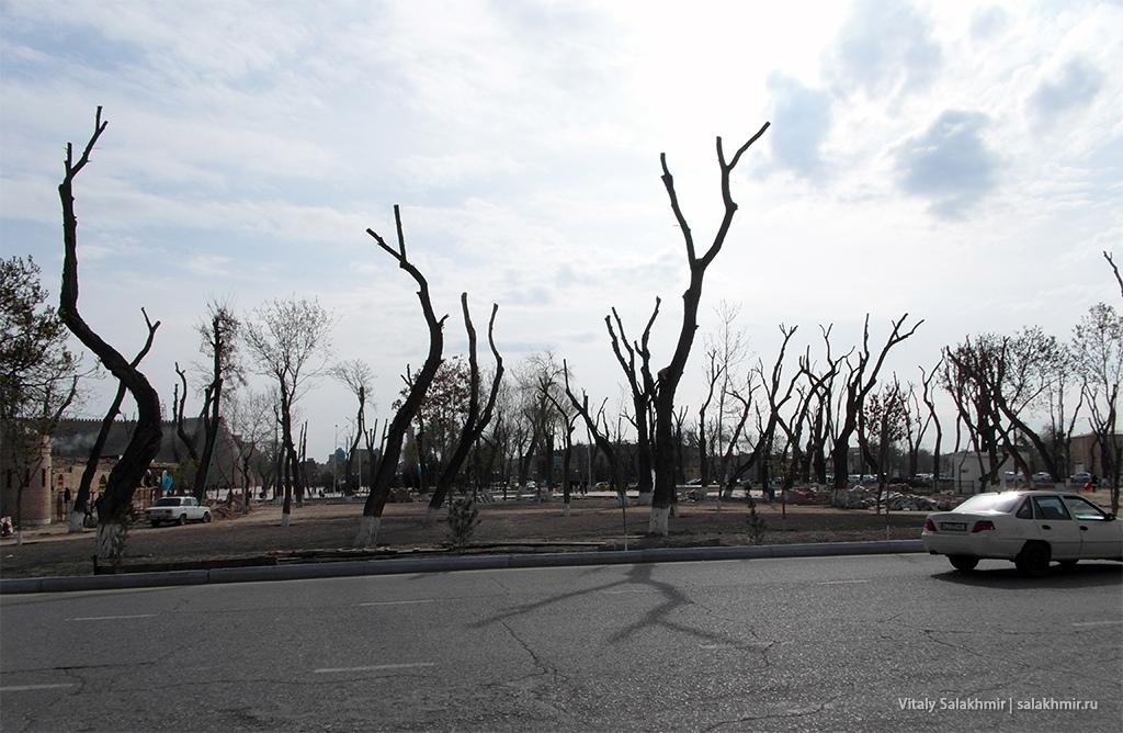 Сквер без деревьев, Бухара 2019, Узбекистан