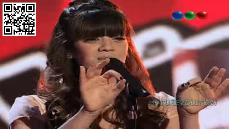 Шоу Голос Аргентина Антонелла Сирилло с песней У меня не было ничего от Уитни Хьюстон La Voz Argentina 2012