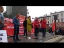 Sanitarki oblastnogo roddoma na mitinge protiv povysheniya pensionnogo vozrasta v Vologde