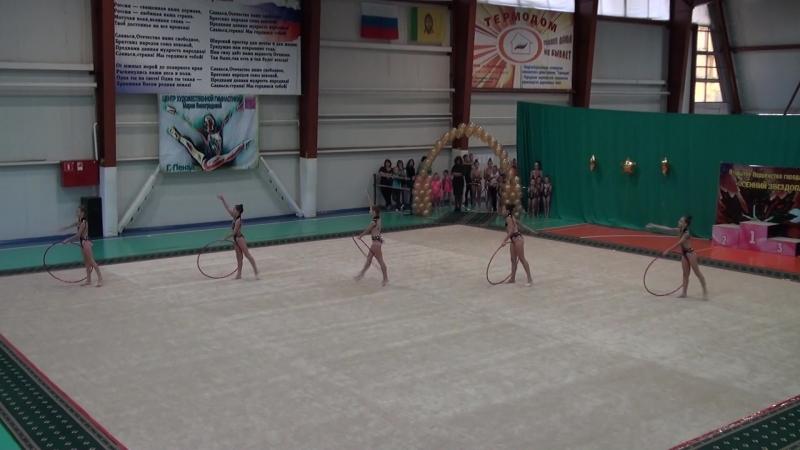 Гимнастика - обруч 1 13.10.18г.