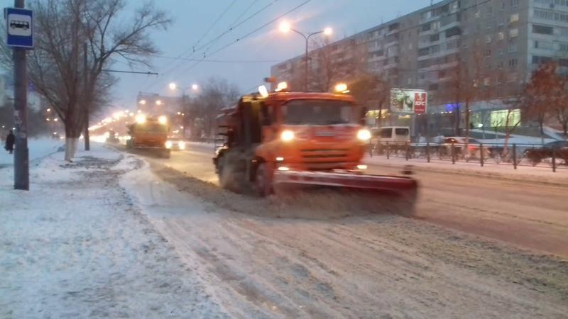 Чёткая уборка снега в Оренбурге.