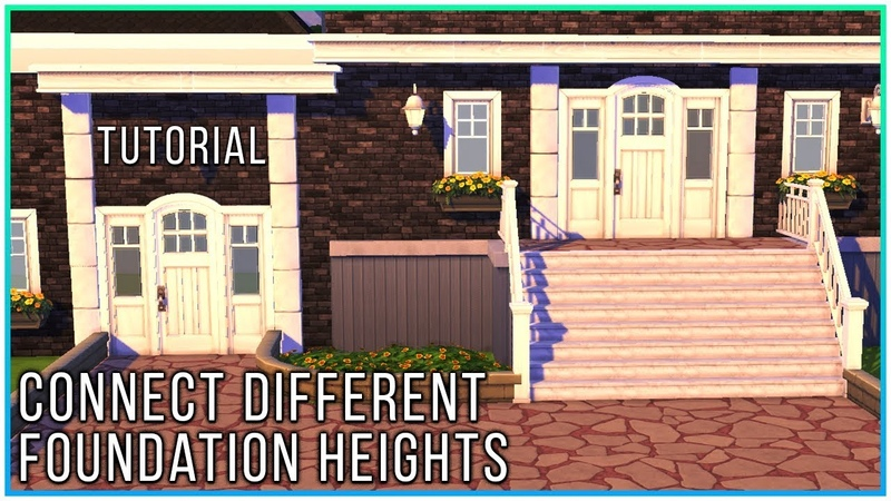 Sims 4 Tutorial - Connecting rooms w different foundation heights | Kate Emerald