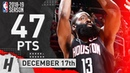 James Harden CLUTCH Highlights Rockets vs Jazz 2018 12 17 47 Pts 5 Ast 6 Rebounds