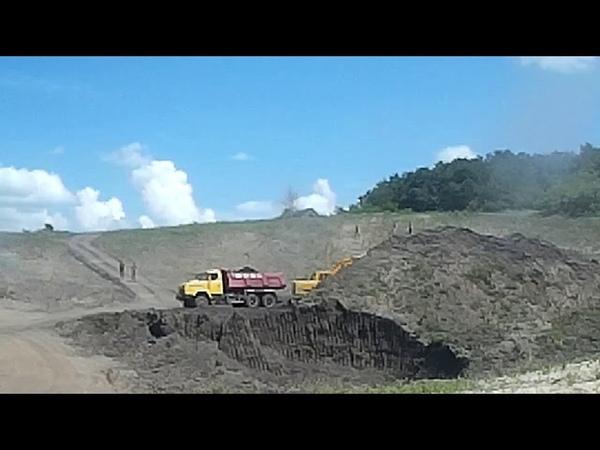 Днепр. Строительство четвертого пускового комплекса мусорного полигона. 9.07.2018