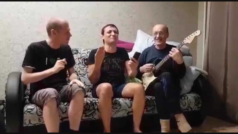 Алмас Багратиони с группой музыкантов. Закулисье:)
