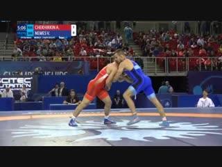 1/8 финала: Александр Чехиркин (Россия) - Виктор Немеш (Сербия)