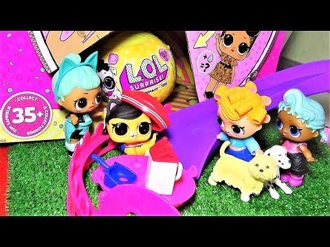 Куклы ЛОЛ в парке с питомцами. Вот это сюрприз. Мультики куклы lol suprise