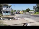 Массовая авария произошла на железнодорожном переезде в Краснодаре