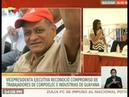 Vicepresidenta Delcy Rodríguez exalta labor de trabajadores de Corpoelec e Industrias de Guayana