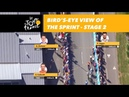 Bird's-eye view of the sprint - Stage 2 - Tour de France 2018
