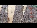 Движение тысяч паломников к Джамарату для кидания камней