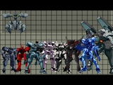 Size comparison of Muv-Luv mecha (TSF)
