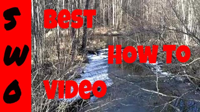Mink and Muskrat Trapping Small Rivers and Streams Part 1 (sets and location)