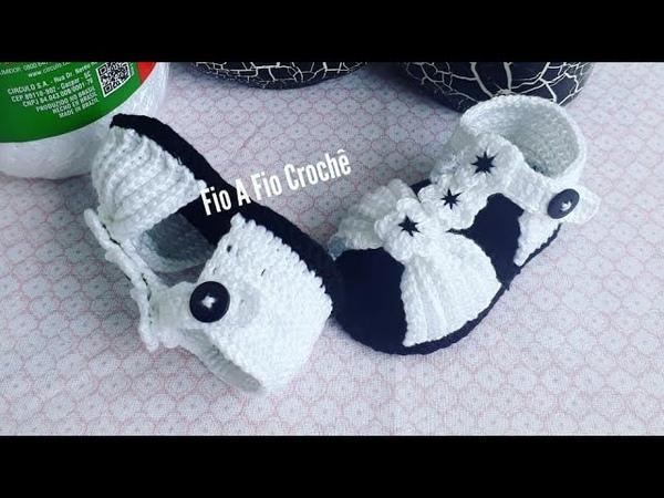 Sandália de crochê Lu - tamanho 10cm