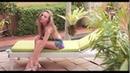 Girl Stockings Pantyhose Nylon Garden: Bahçede kilotlu çoraplı kız.