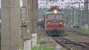 Электровоз ВЛ10У 995 с грузовым поездом платформа Посёлок Киевский 16 07 2018