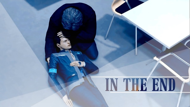 In the end connor hank detroit become human