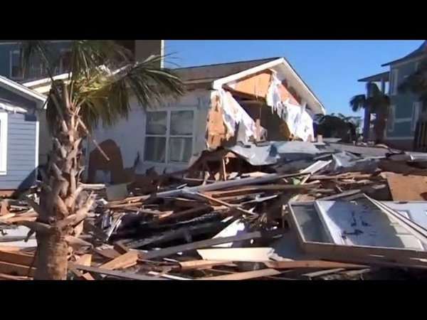 President first lady visit areas impacted by Hurricane Michael