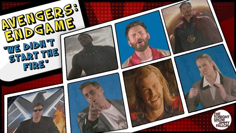 Avengers Endgame Cast Sings We Didnt Start the Fire