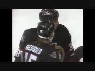 Alexei Yashin scores 5 points in his rookie season for Senators (1993) / 5 очков Яшина в одном матче