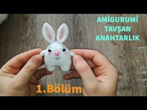 Amigurumi Örgü Tavşan Anahtarlık Yapımı - Bacak ve Gövde Yapılışı 12 (Gül Hanım)
