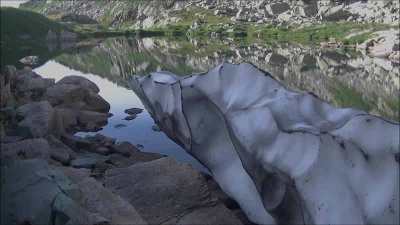 На леднике в Поднебесные Зубья.