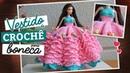 Vestido de crochê para boneca (Ano Novo) | Raquel Gaúcha