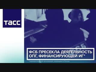 ФСБ пресекла деятельность ОПГ, финансирующей ИГ