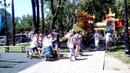 Горловка лето фонтан Собор детская площадка июнь 2019