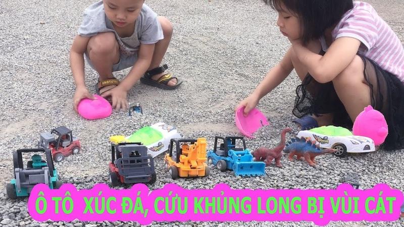 Xe máy xúc, xe cần cẩu - đồ chơi trẻ em I Vui Cùng Bé