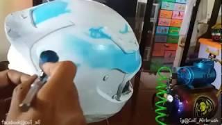 Airbrush Helm Hadiah Motor