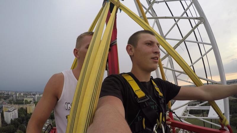 мій перший такий адреналін за своє життя, стрибок з висоти 90 метрів 😉 почуття не забуваємі😊