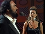Luciano Pavarotti and Celine Dion