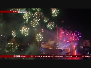 Bbc news (world) - fireworks over bangkok as thailand welcomes in 2019  #happynewyear2019