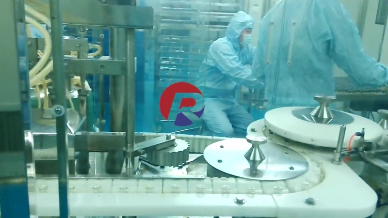 Reliance 10 glass vials filling stoppering crimping machine