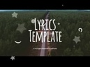 Lyrics Template Motion Graphics