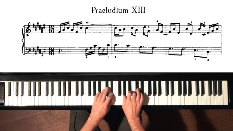 Bach Prelude and Fugue No.13 Well Tempered Clavier, Book 1 with Harmonic Pedal