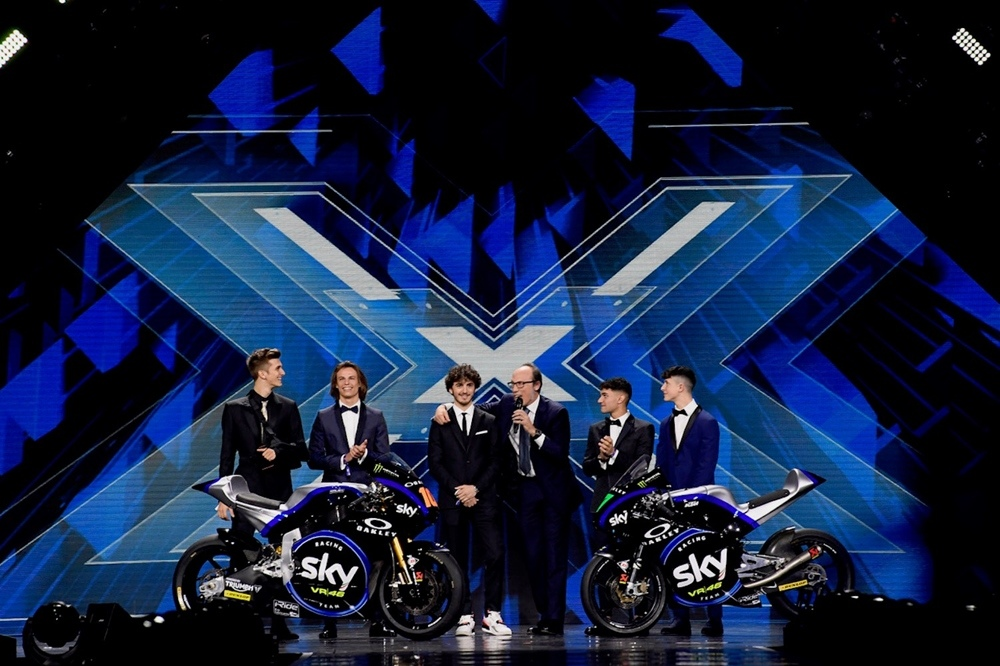 Презентация команды VR46 2019 на шоу X-Factor
