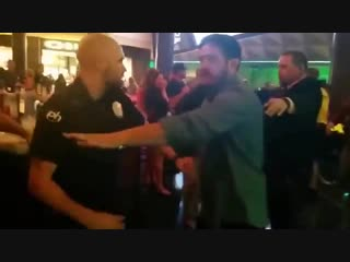 @NateDiaz209 You was hiding behind security and ran away coward, it's clear on the video. We just smashed your team that night