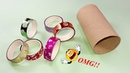 Waste material reuse idea   Best out of waste   DIY arts and crafts   recycling tissue roll