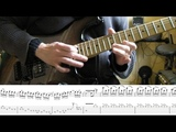 How to play Adrian Smith's solos #1 Hallowed Be Thy Name (with tablatures and backing tracks)