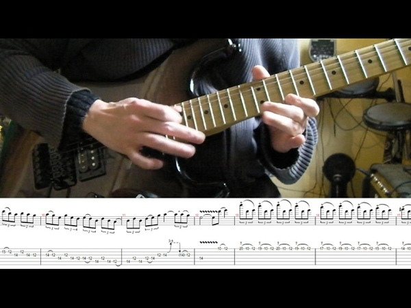How to play Adrian Smith's solos 1 Hallowed Be Thy Name (with tablatures and backing tracks)