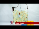 Bolsa de tecido Isabell. Compre o projeto com moldes medidas e passo a passo no Maria Adna Ateliê