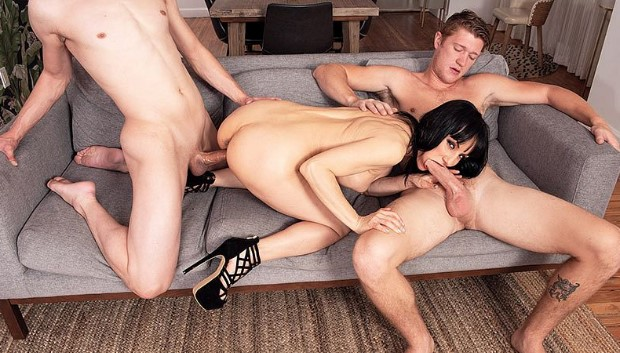 ScoreHD - Natasha's three-way fantasy comes true