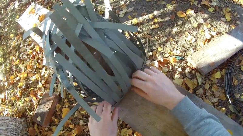 Плетения корзины из упаковочной ленты