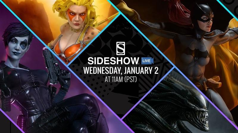 Sideshow Live! - Batgirl, Alien Mythos Bust, Cheetara, and Domino!