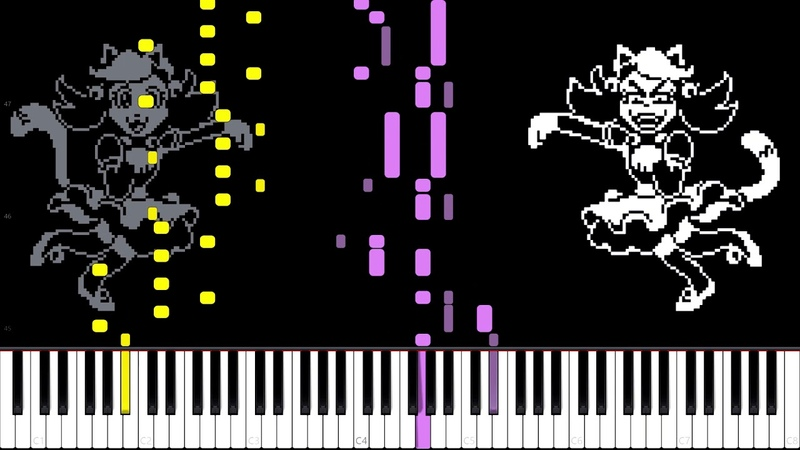 Mad Mew Mew Undertale Piano Tutorial Synthesia Project